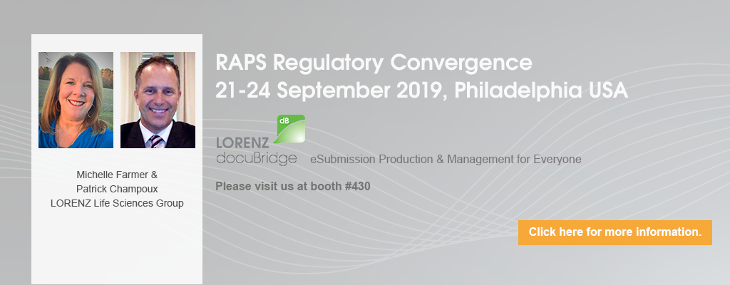RAPS Regulatory Conference, 21-24 Sep 2019, Philadelphia, USA