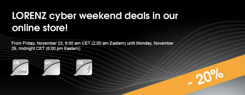 LORENZ cyber weekend deals - 20% off your in-store purchase!