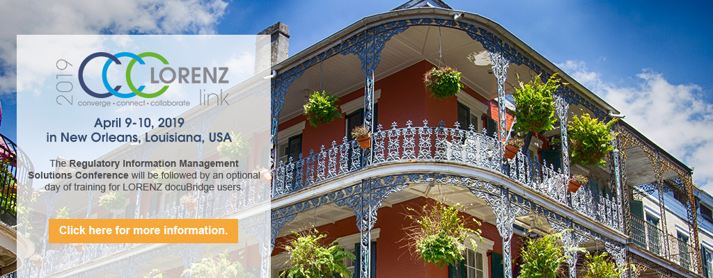 LORENZlink 2019 in New Orleans, Louisiana, USA, April 9-10