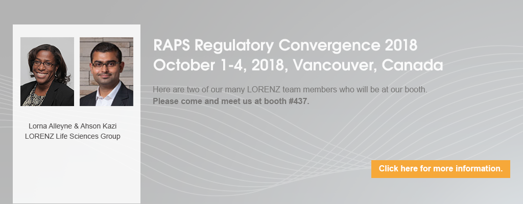 RAPS Regulatory Convergence 2018 in Vancouver, Canada
