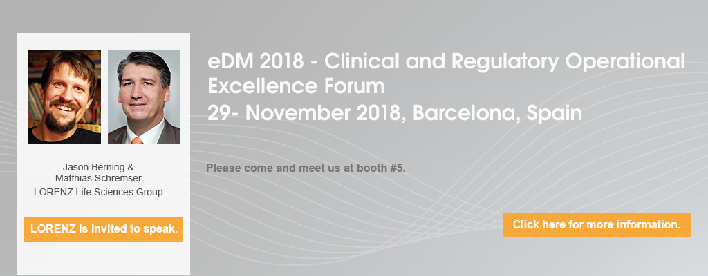 eDM 2018 - Clinical and Regulatory Operational Excellence Forum - Barcelona, Spain